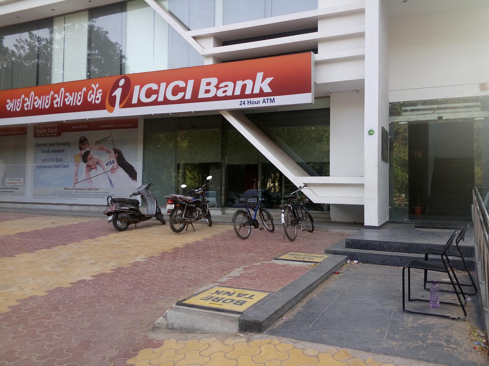 ICICI Bird Circle have enough space but no special parking and improper ramp at Branch