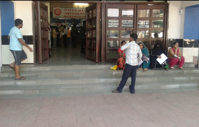 NO ACCESSIBILITY AT SURAT RAILWAY STATION RESERVATION OFFICE  AND STATION PREMISES