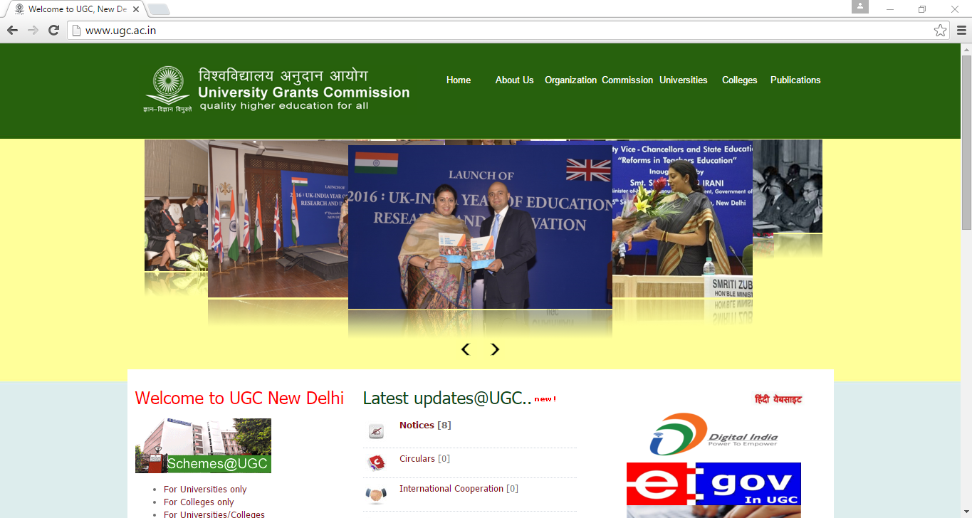 University Grant Commission Website not Accessible for Visually impaired